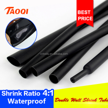 2017 HOT SALE 8mm black heat shrinkable tubing 4:1 electrical insulation tube