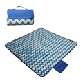 Waterproof Quilted Outdoor Fleece Blanket Nylon Backed Travel Picnic Blanket