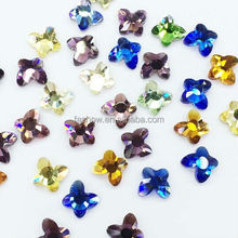 Feilang Colorful Butterfly 3d Nail Rhinestone Decoration
