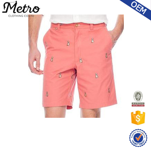 2016 new fashion embroidered shorts mens OEM high quality