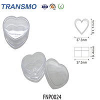 Transparent Heart-shaped Compact Plastic Powder Case