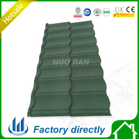 0.4mm aluminum zinc Natural Black slate Roofing tiles/stone coated steel sheet