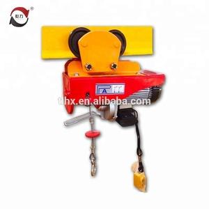 mini pa600 electric cable hoist/ mini electric wire rope hoist crane
