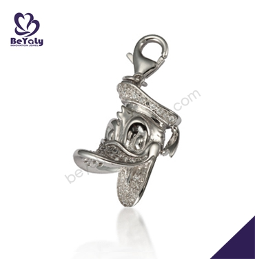 Cartoon duck design silver animal shaped necklaces