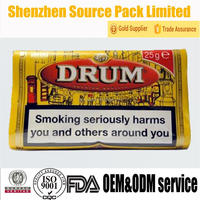 25g DRUM additive chemical free hand rolling tobacco bag