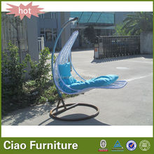White rattan hanging chair outdoor hanging bed