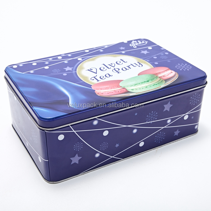 Cookie Storage Metal Tin Box Biscuit Packaging Box