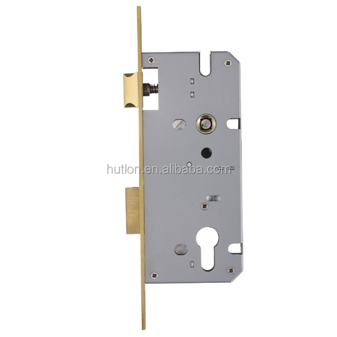 Hutlon euro profile mortise door lock body with square comer strike HD8550B