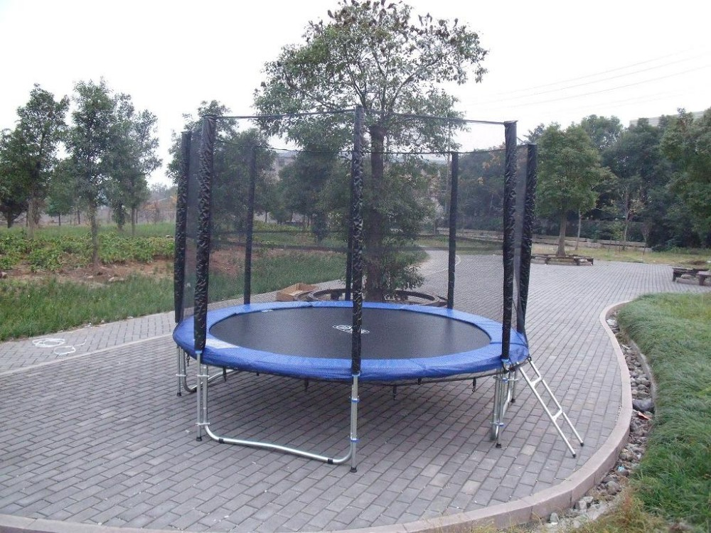 6ft 16ft Commercial Trampoline With Safety Enclosure For