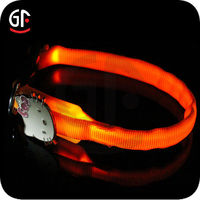 2016 Hot Sale Pet Accessory Remote Control Led Flashing Dog Collar
