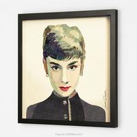 3d beautiful women Audrey Hepburn images of handmade wall hanging