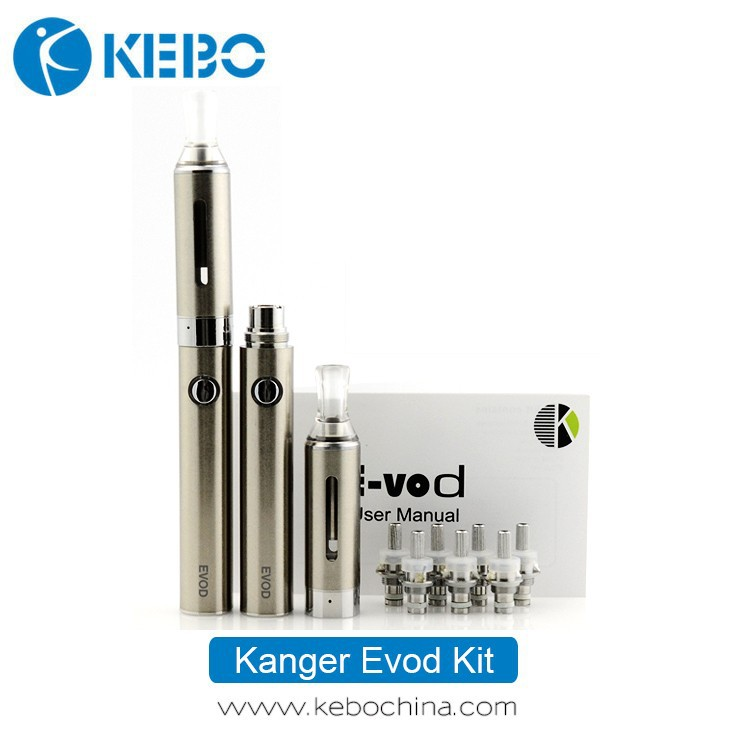 Authentic Kanger Technology E Cigarette Kanger Evod Kit 1.5ml 650mah Battery eGo 510 Thread