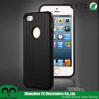 high quality 3D line PC TPU two in one combo cell phone case for iphone 5se case