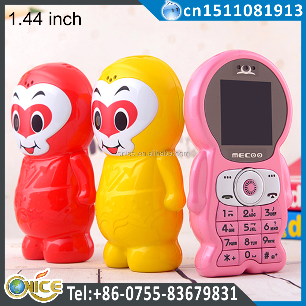 K12 cute cell phones girls 1.44 inch Dual Sim Card latest Cute Monkey Style mini handphone with camera bluetooth