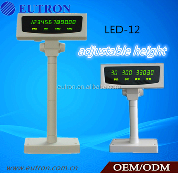 High brightness LED pos customer display with RS232 interface for pos system