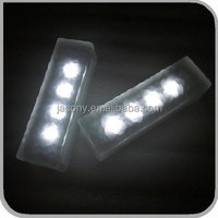 Frosted glass solar ice brick light 4 LED IP67 ground lamp outdoor (JL-5523)