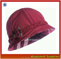 ZD367 Hot Pink Fuchsia Showerproof Cloche Hat/ custom cloche hat