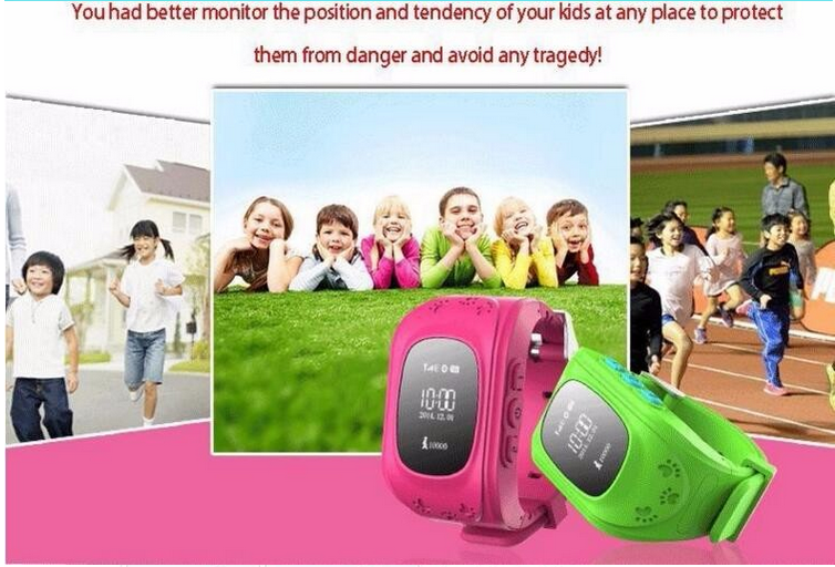 Q50 Kids Smart GPS Tracker Watch Anti-Lost Locator Alarm Clock Smartwatch Remote Monitor Sos /GSM Tracker Smart Watch for Child