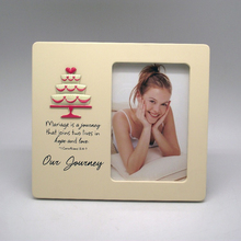 Happy birthday cake badge with inspiring words 4r mdf photo frame