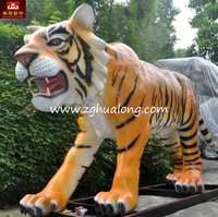Exhibit Animal for Playground animatronic tiger model