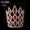 Wholesale Rhinestone Pageant Crowns Red Color Cheap