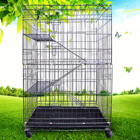 New Three Layers Foldable Big Iron Wire Cat Cages Pet Cages