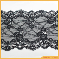 black/gray lace trim for girl dresses