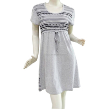 Grey contracted bowknot nightgown women