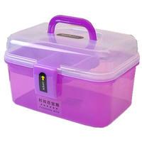 Eco-friendly transparent plastic storage bin technicians toolbox bin small suitcase box