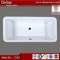 2017 Hot sale White Deeply acrylic walk in bathtub for elder people