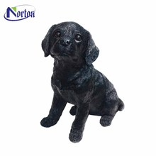 The park decorated small black dog fiberglass sculptures NTFA-070Y
