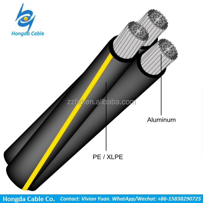 600v Aluminum Overhead Urd Triplex Sweetbriar - 4/0-4/0-2/0 Direct ...