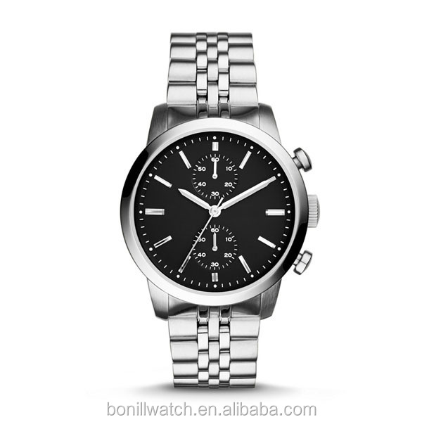 watches men luxury brand automatic geneva quartz stainless steel watch chronograph