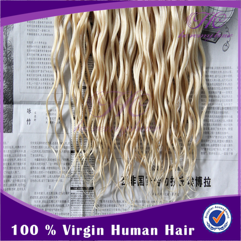 2014 Popular Products Goddess Remi Brown/Blonde Mixed Human Hair Extensions