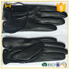 Black women full finger genuine leather motorcycle gloves
