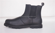 New designed hot selling black top layer nubuck leather goodyear welt safety shoes