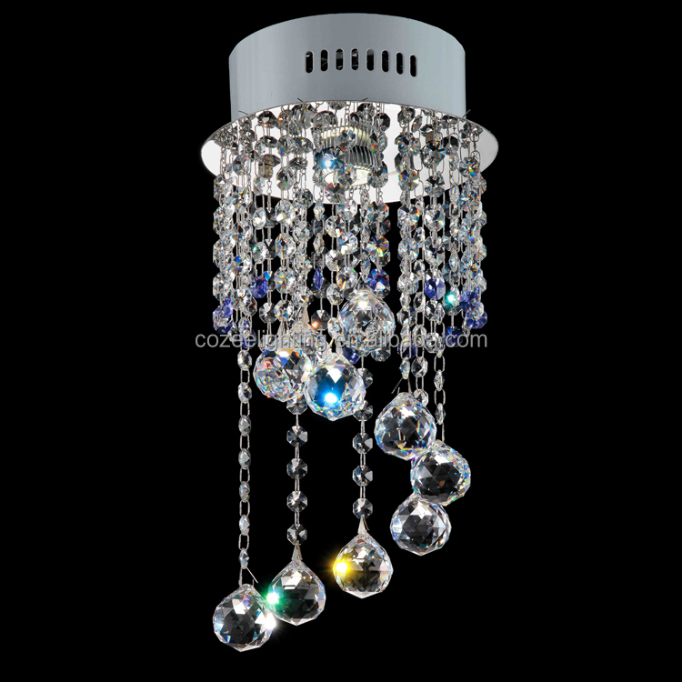 Lustre Moderne Hanging Crystal Spiral Pendant Lights Decoration CZ8177