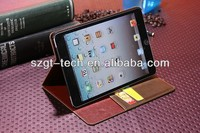 OEM foldable stand wallet case for iPad Mini2