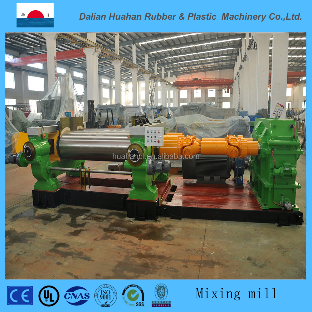 two roll rubber mixing mill price with stock blender from factory