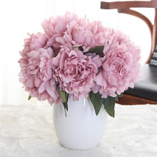 5 Heads/bunch Silk Artificial Flowers Hydrangeas Bridesmaid Bridal Bouquet Latex Artificial Flower For Party Wedding Decoration