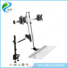 JEO WS12 360 degree rotation adjustable monitor workstation monitor mount riser