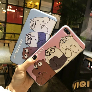 2017 New Cartoon Pattern Printed Phone Back Cover for iphone 7 plus, uv Printer Phone Case