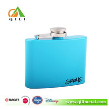 promotional 6oz stainless steel painting and silk screen hip flask