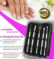 5-Piece Cuticle Pushers & Nail Cleaners Kit/ perfect stainless steel pusher nail cleaning and shaping nail
