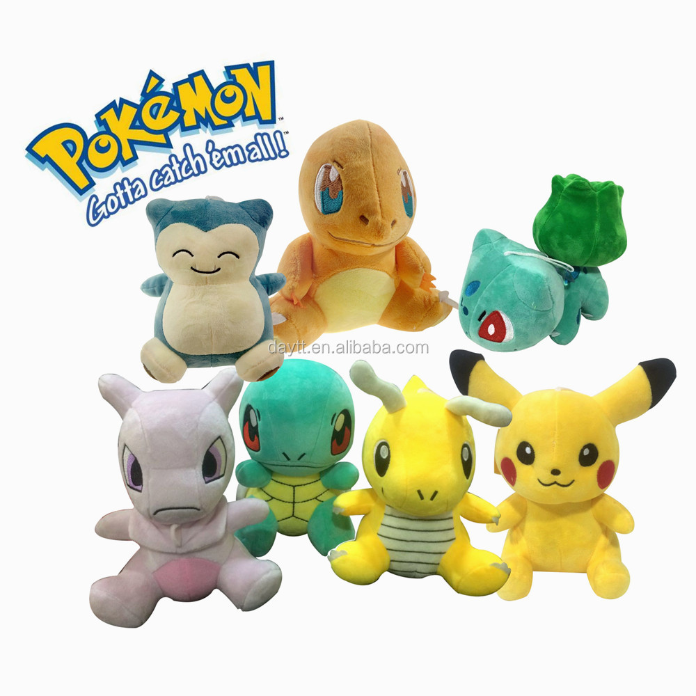 wholesale 20cm/8 inch pokemon plush toy keychain Charmander,Squirtle,Pikachu,Bulbasaur,Kabigon,Kairyuu,Elf dream stuffed <strong>animal</strong>