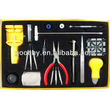 20 IN 1 wrist watch making kit watch repair tool kit with yellow box