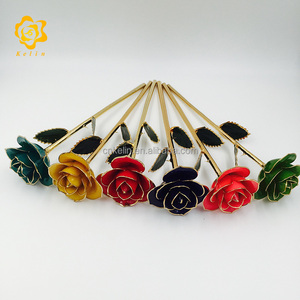 30cm 24K Gold Foil Artificial Real Rose The Unique and Romantic and Creative Gift