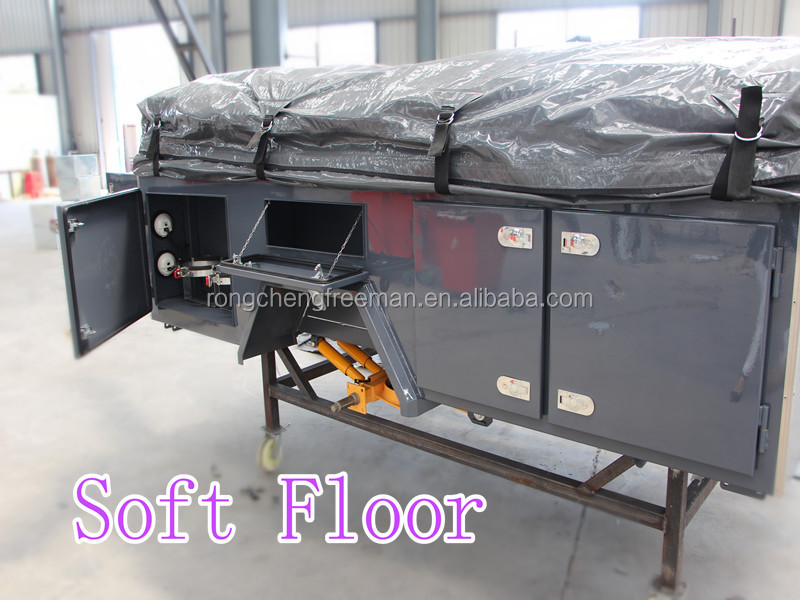 Rongcheng Hot Sale Soft Floor Tent Folding Camping Trailer for manufacturers
