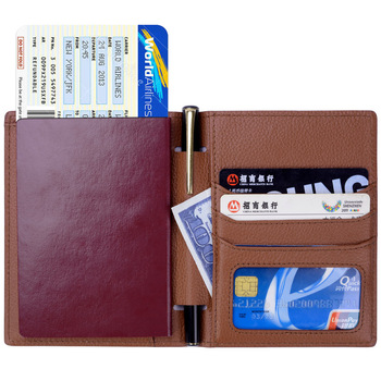 RFID Blocking Genuine Leather Card Passport Holders