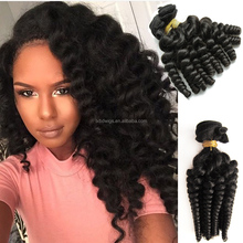 Hot-selling virgin human hair black color cuticle remy peruvian hair weave